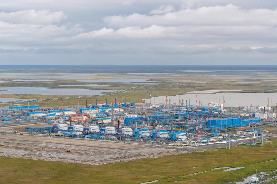 Бованенковское нефтегазоконденсатное месторождение ООО«Газпром добыча Надым» расположено наполуострове Ямал