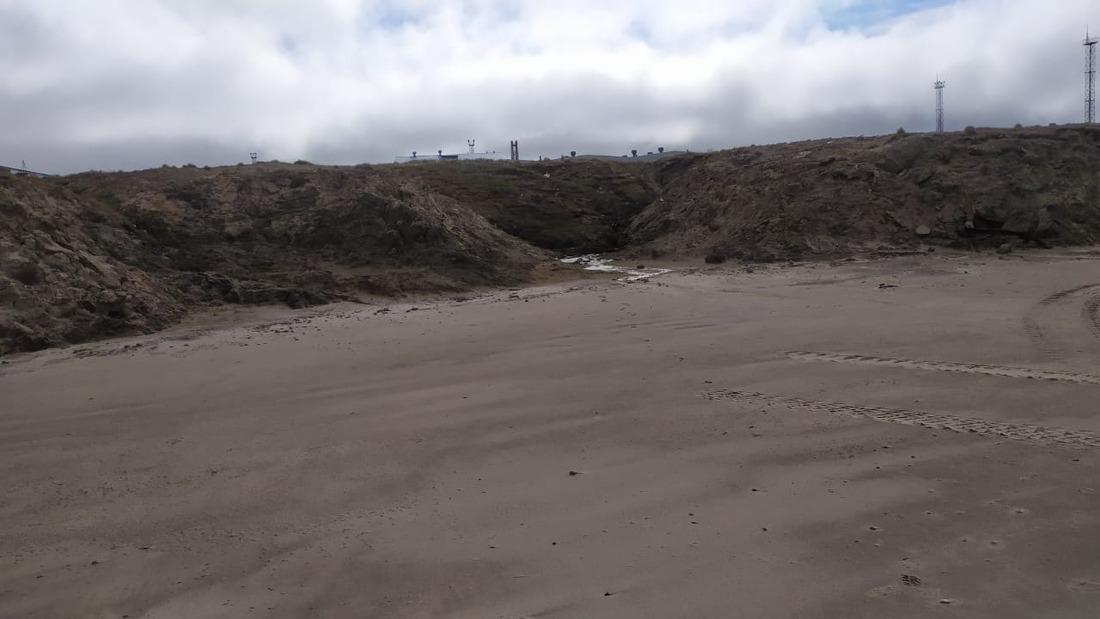 Очищенная отмусора береговая линия Карского моря